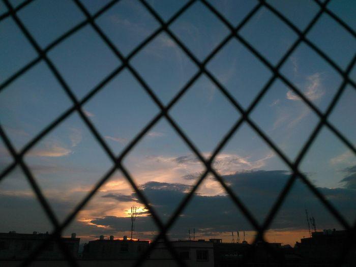 学校的天空 Sky Miss City 晚霞 Cloud - Sky
