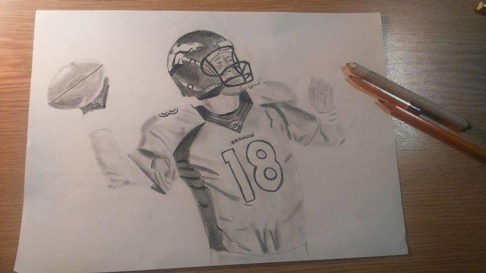 Drawing NFL NFL Football Peyton Manning PeytonManning Super Bowl
