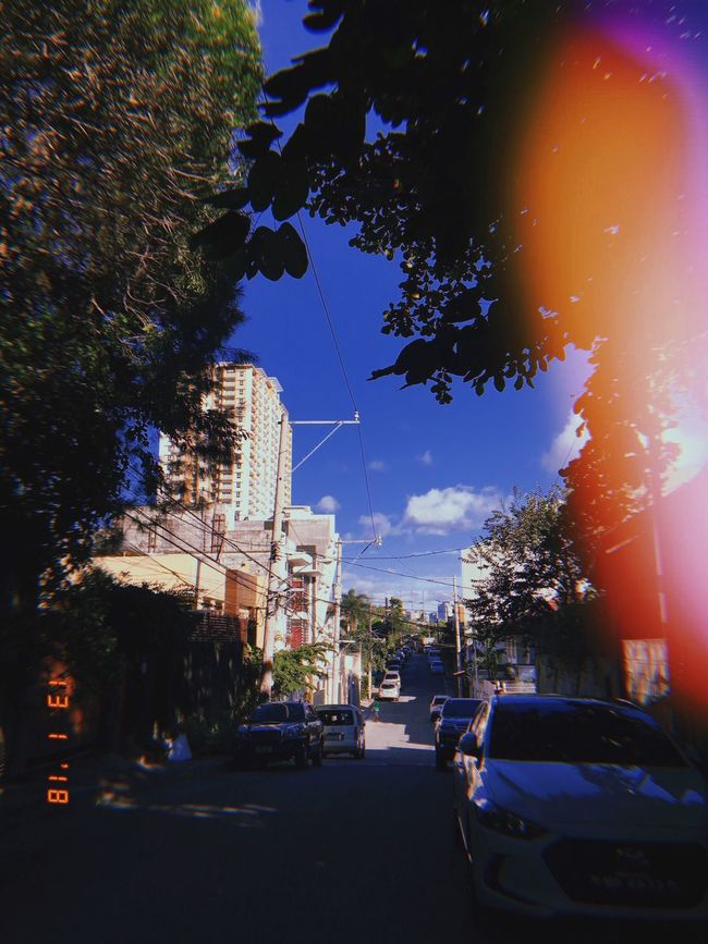 Throwback. Let's go back to a time where everything is mechanical. Car Street Road Sky Outdoors Day Manila IPhoneography Huji