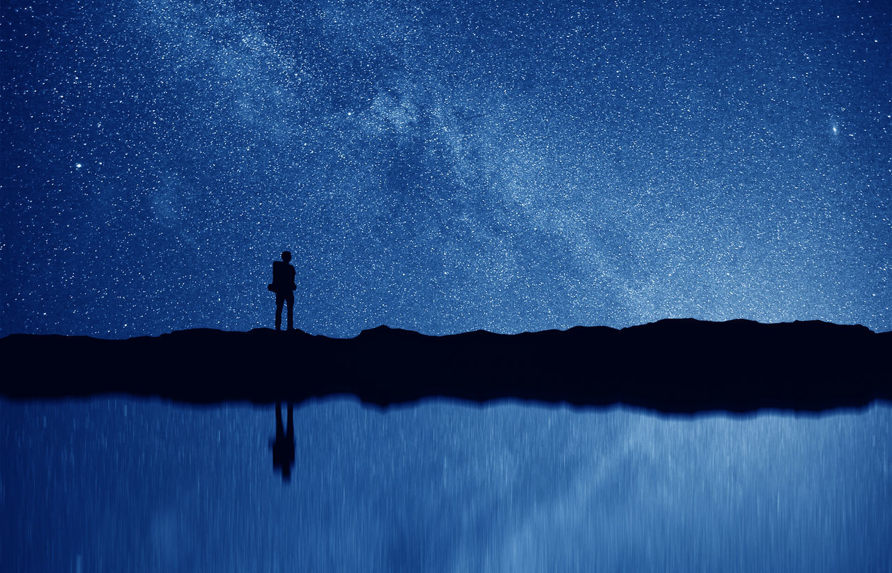 Beautiful stock photos of galaxy, Astronomy, Beauty In Nature, Blue, Constellation