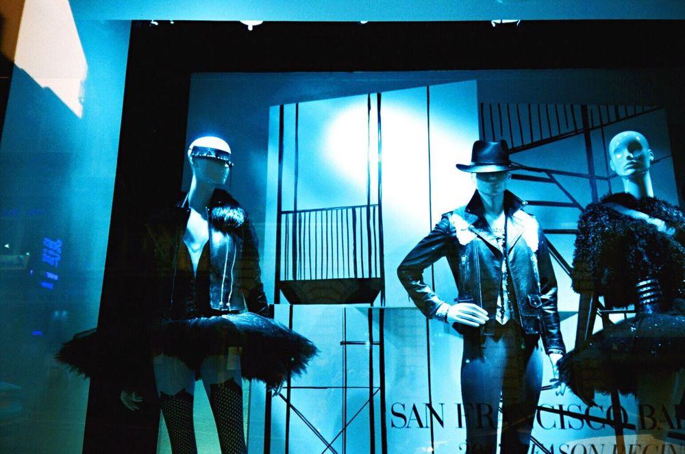 Mannequin Tutudress Indoors  Saks Lomo Turquoise NATURA Classica Koduckgirl Store Window Human Representation