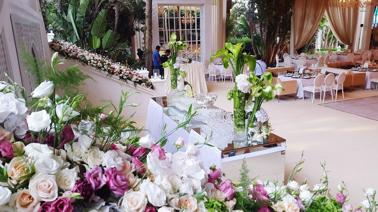 Flower Table Nature Architecture No People Outdoors Day Morocco Tanger  Mirage Hotel Decoration Wedding Handmade For You Handmade Flowers Large Group Of Objects Abundance