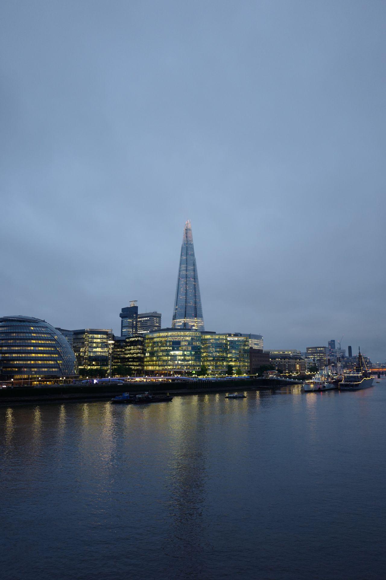 The Shard, London Sky Scraper Skyline Thames River South Bank London Architecture Dusk City Lights