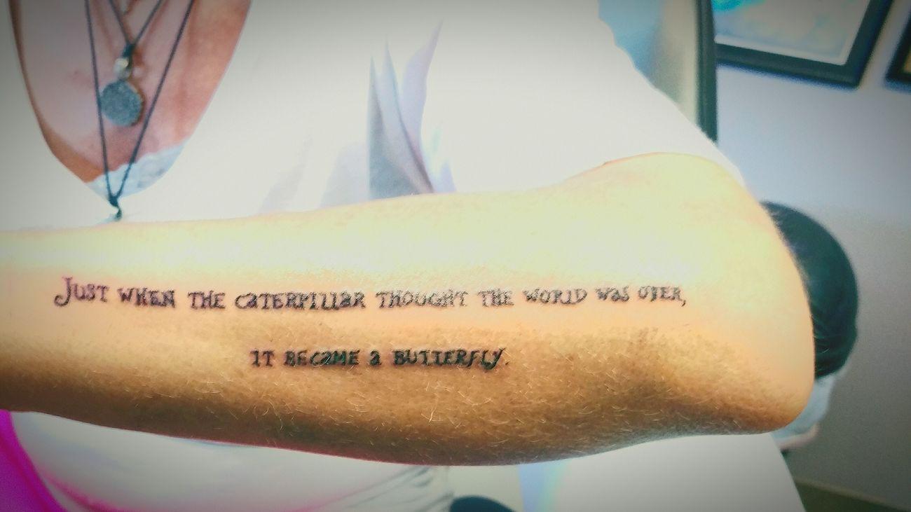 Dont assume ~ SurvivingisFighting Mynewtattoo :) Aliceinwonderland Tattoo ❤ Butterfly ❤