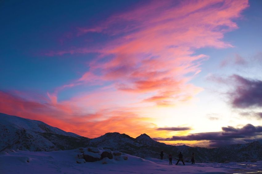 Sunset in Sierra Nevada Granada Sierranevada Snow Winter Cold Temperature Nature Scenics Beauty In Nature Tranquility Sunset Landscape Mountain Day