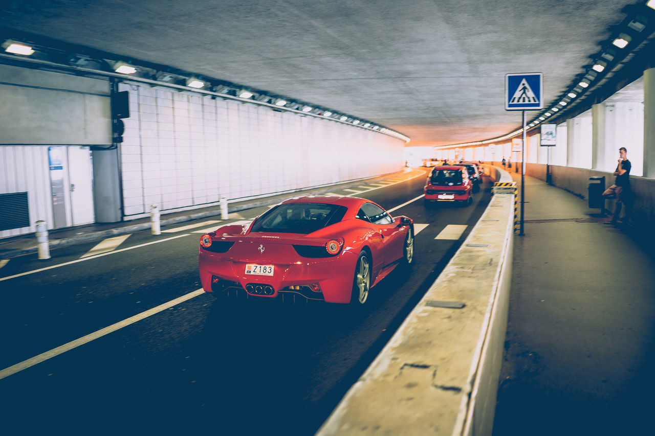 Car Driving Ferarri Mode Of Transport Monaco Night No People Outdoors Red Road Transportation Yellow Taxi