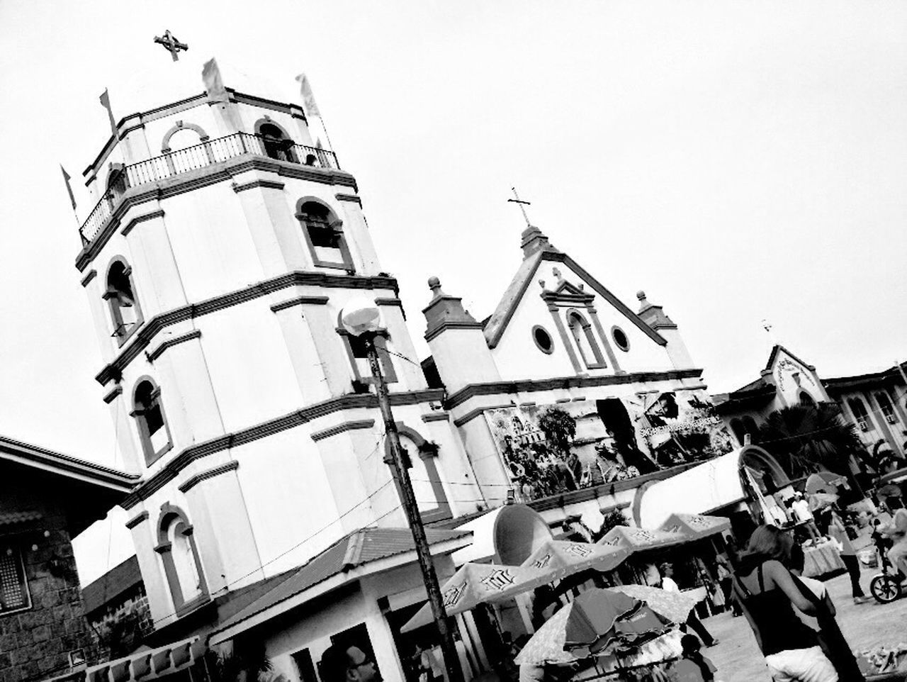 san pascual baylon church Blackandwhite HDR Iosphotography PhonePhotography Checkthisout Church Phoneography IPhoneography