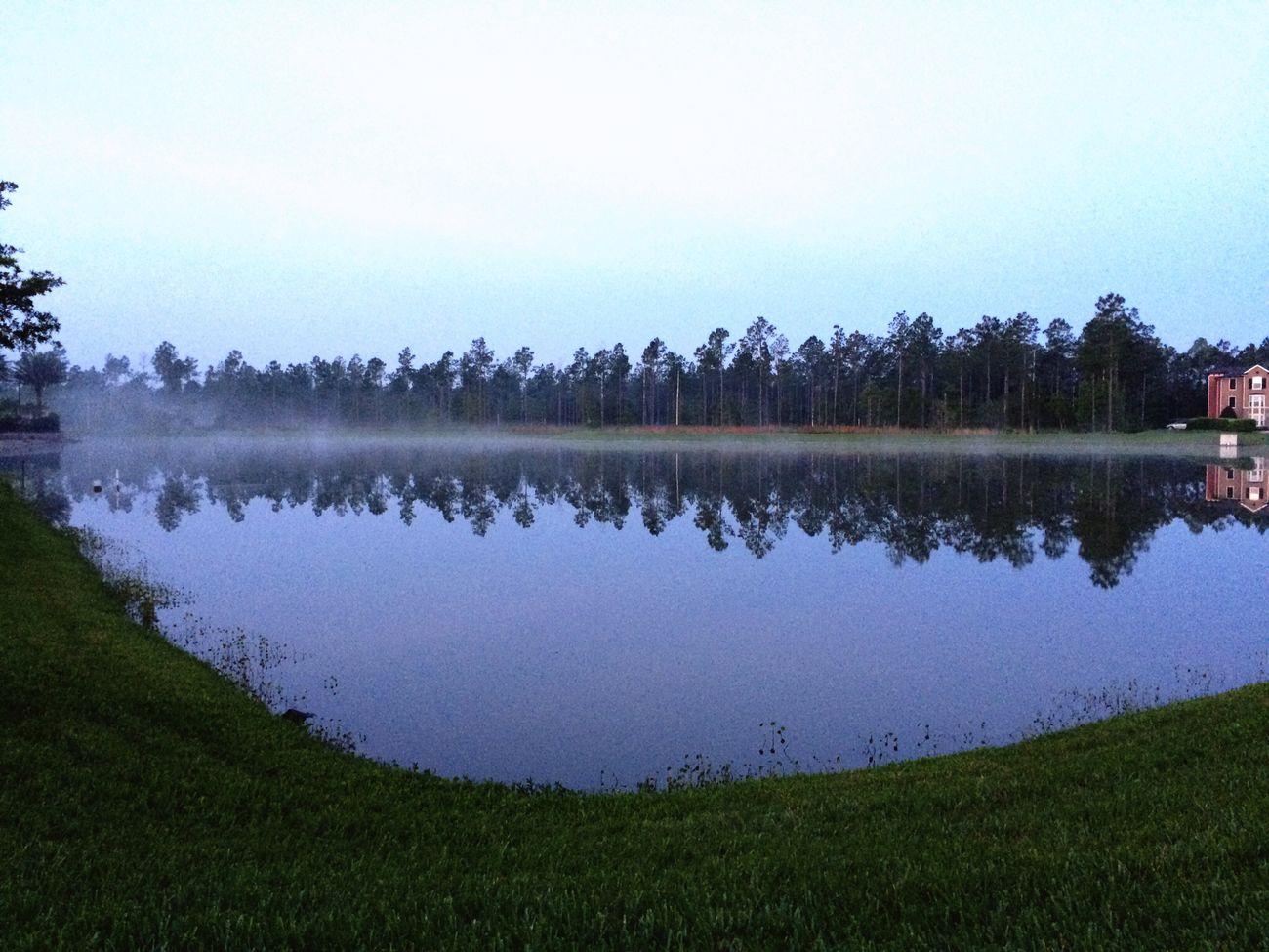 Pond Lake Mist Misty Morning Foggy taken 2015