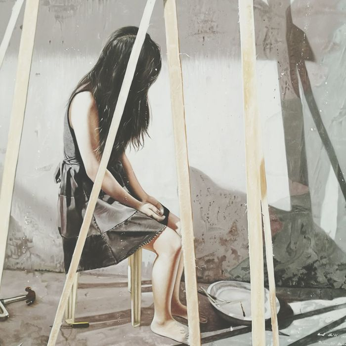 Favorite painting. Pinto Painting Antipolo Art Girl Lonely