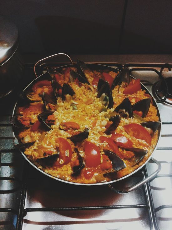 Paella. Comfortfood Lula Mariscos, Mexihão Mushels Paella Paellas Sea Shirimp Shirt Sicilian Lemon Squid