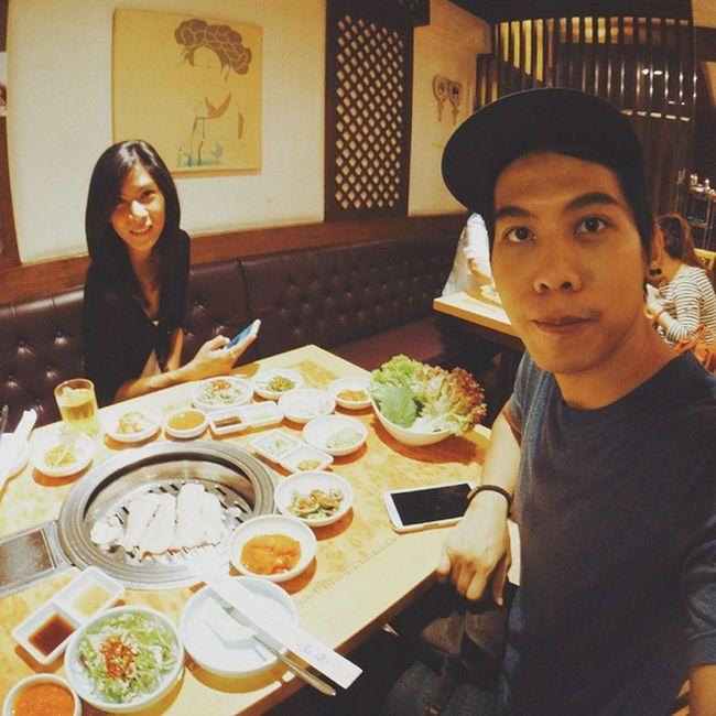 Korean Babique with @khunyings 🍢🐷 SandwizInBKK Bangkok Koreantown BBQ Travel Sightseeing KoreanFoods