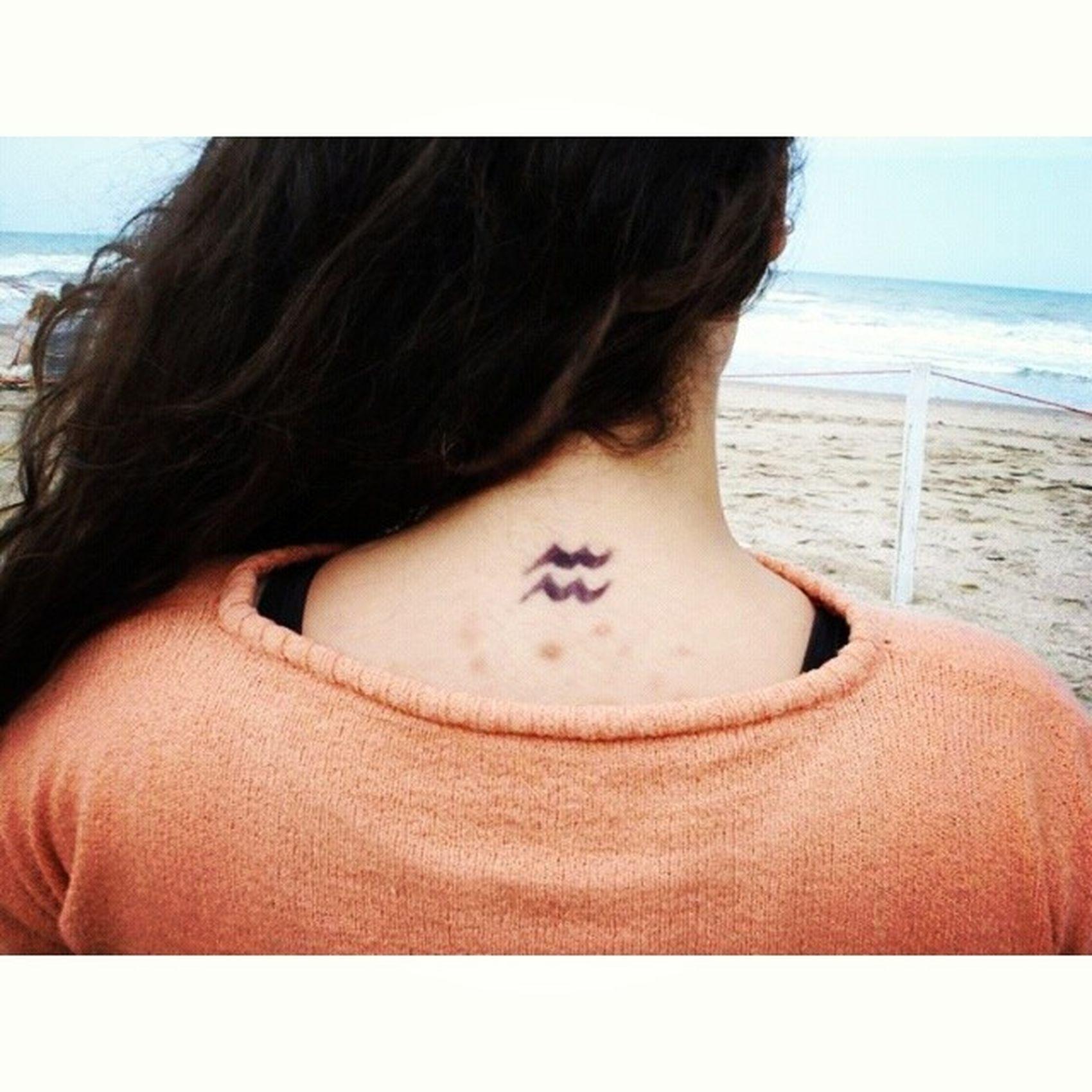 Tattoo Aquarius Perfect AquaGirl Passion WishItWasReal IFuckingLoveAquarius Zodiac AirSign HateHashtags hahaIronic Bye