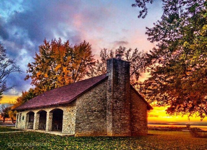 Sunset Shelter House Grand Lake St. Marys HDR Autumn Autumn Colors Landscape_photography Architecture