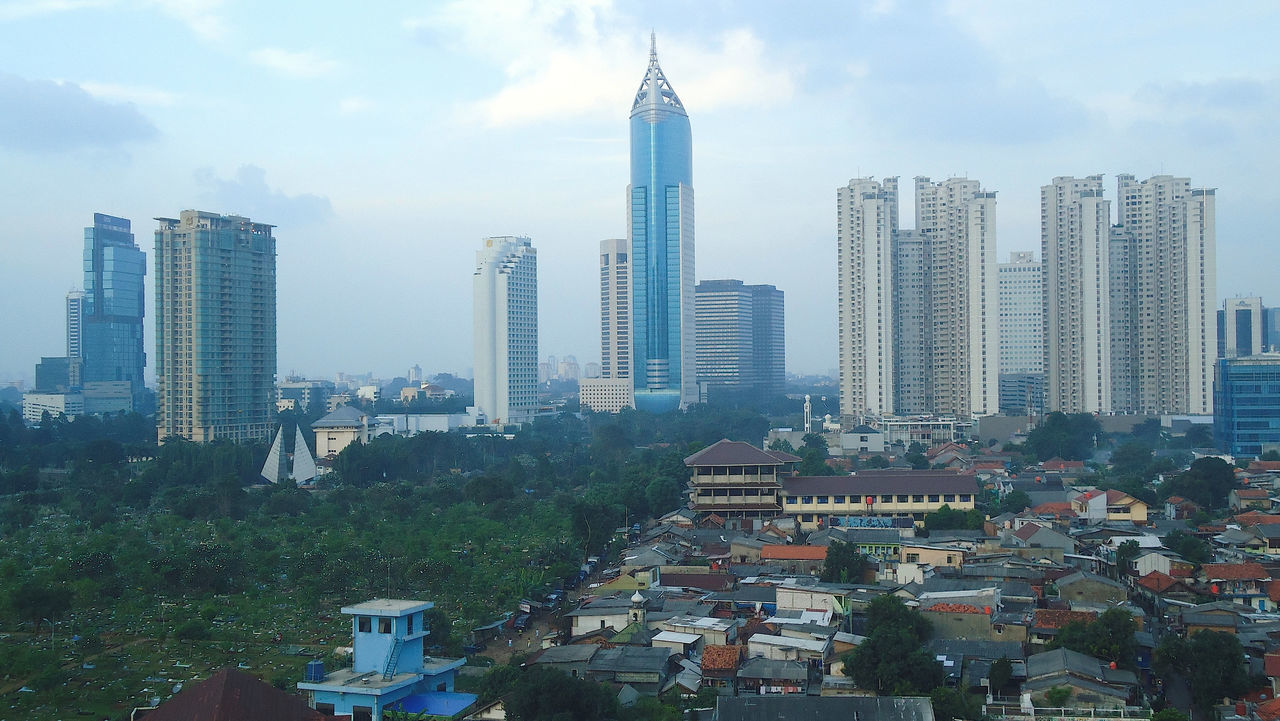 Jakarta Sudirman City View Architecture Building Exterior Built Structure City Cityscape Cloud - Sky Day Downtown District Growth Modern No People Outdoors Roof Sky Skyscraper Tower Tree Urban Skyline View