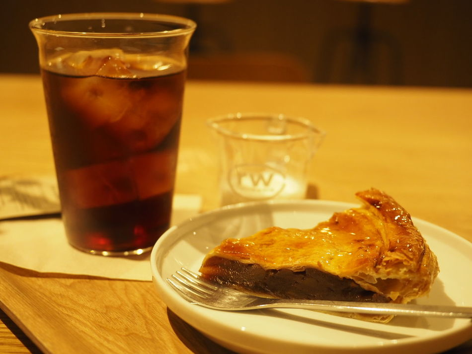 Drinking Glass Food And Drink Drink Table No People Ice Cube Ready-to-eat Food Coffee Time Breaktime Icedcoffee Apple Pie