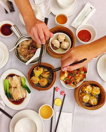 Yum Cha Yumcha Food And Drink Food High Angle View Ready-to-eat Chinese Food On The Table Breakfast Foodphotography Foodie Flatlay Yummy Delicious Travel Culture Tradition Sydney Eat Breakfast Time Chinese New Year Cnysyd Open Edit