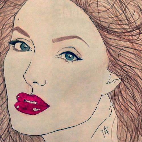 Angelinajolie Drawing