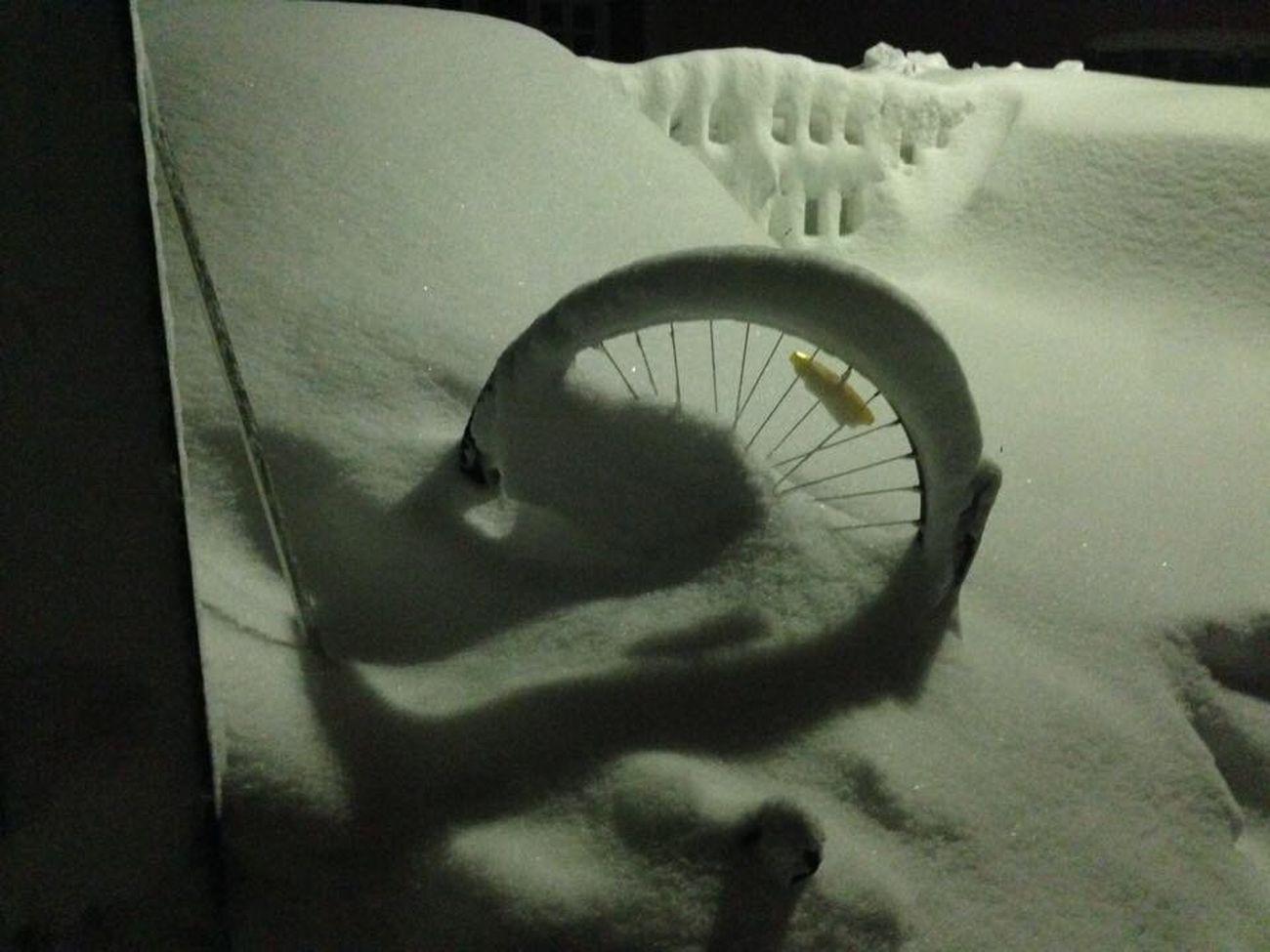 Bike Bikelife BikeNight Bikeswithoutlimits Bike In Nature Bike In The Storm Bike In The Snow Cold Winter ❄⛄ Snowcapped This Week On Eye Em