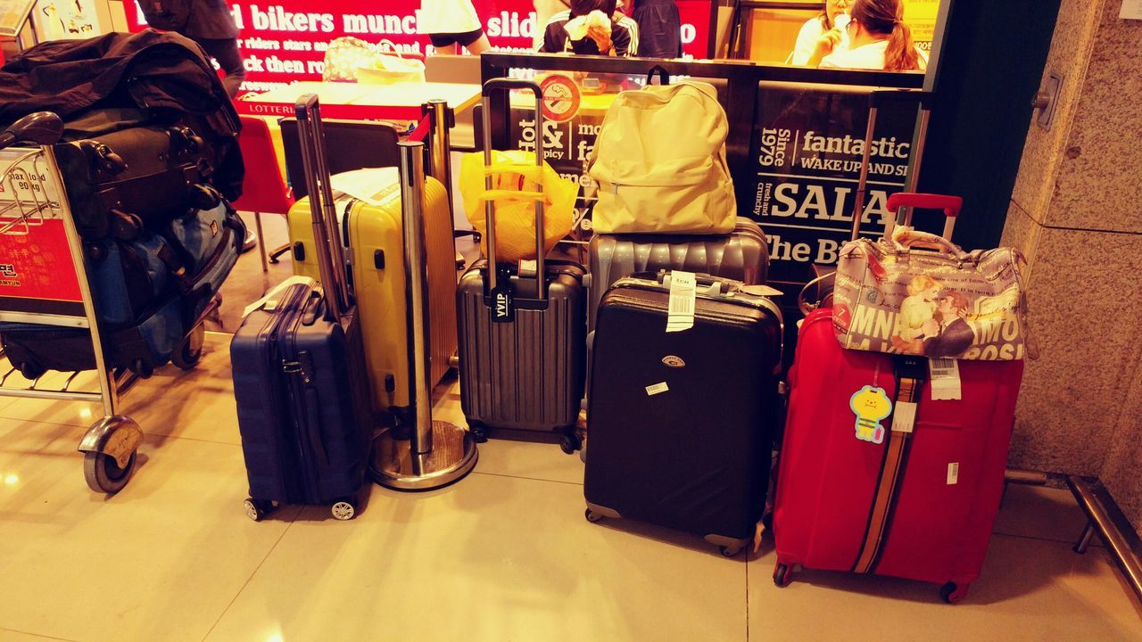 Sensibility Sensitive Photo Sensitive Incheon International Airport Airport Travel Traveling Carrier Carriers Retail  Red Store No People Variation Consumerism For Sale Indoors  Close-up Day Miles Away