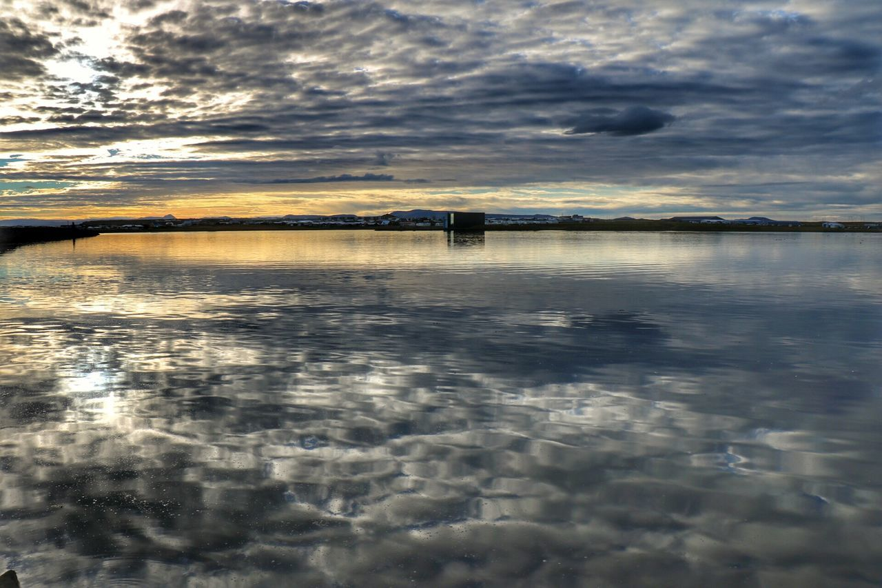This Morning Reflection Cloudy Cloud - Sky Sea Calm Beauty In Nature Morning Sun Dramatic Sky Seaside Sea And Sky Far Distance Outdoors Cloud Tranquility