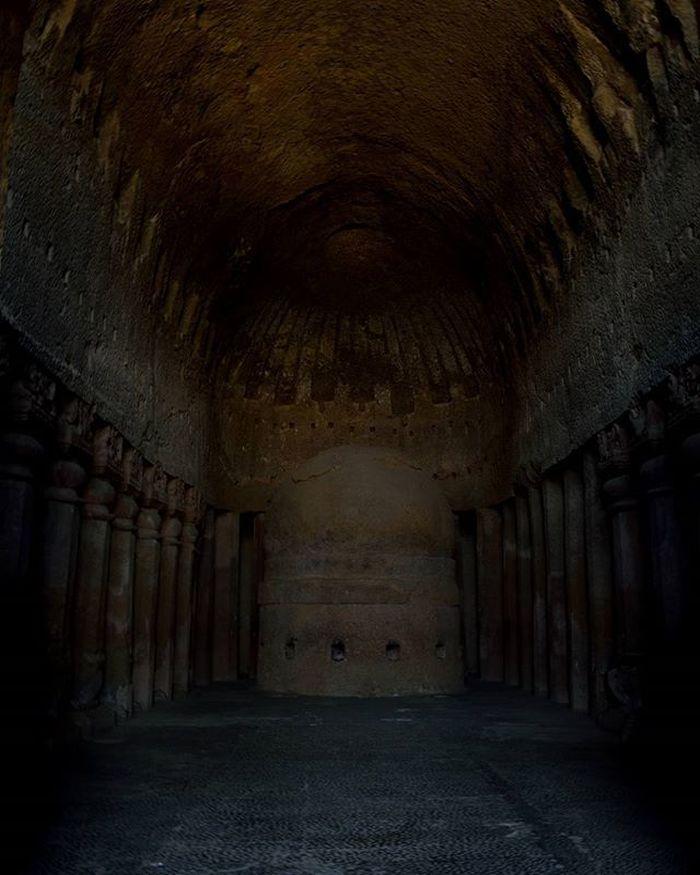 Travel Explore Sgnp Kanhericaves Rockcut Monument Buddist Influence Artandculture India PrayerHall Stupa
