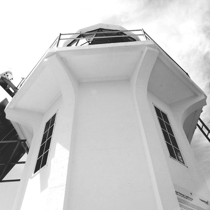 Lighthouse at Cape Reinga New Zealand Bay of Islands Architecture Building Exterior Black And White Photography Blackandwhite Northisland Northislandnz Newzealand New Zealand Outdoors Scenics Capereinga Bayofislands Bayofisland Northislandnz Lighthouse Lighthouses Lighthouse_lovers
