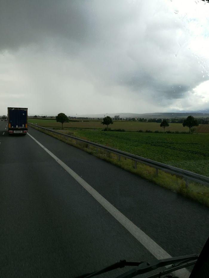 Cloud - Sky Agriculture Raining Day Wall Of Rain Truckerslife Bockenem Harz Nature