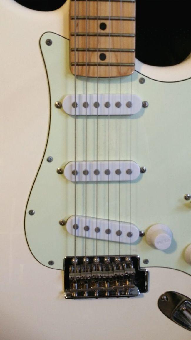 Guitar Strat Stratocaster White Guitar Electric Guitar Music Musical Instrument Fender Fenderguitar Maple Neck Mint Green Pickguard