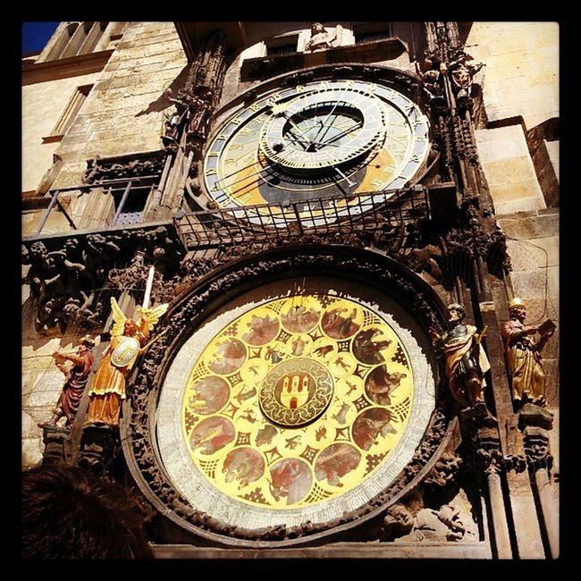 Astronomiskaklockan Prag Prauge Astronomicclock