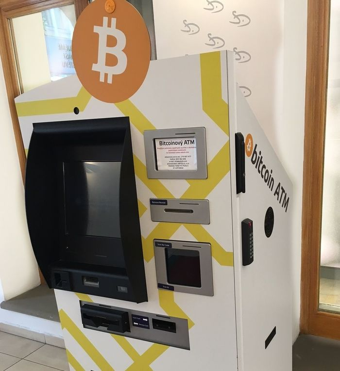 bitcoin ATM Atm Autoteller Bitcoins Cash Machine Communication Finance Money No People