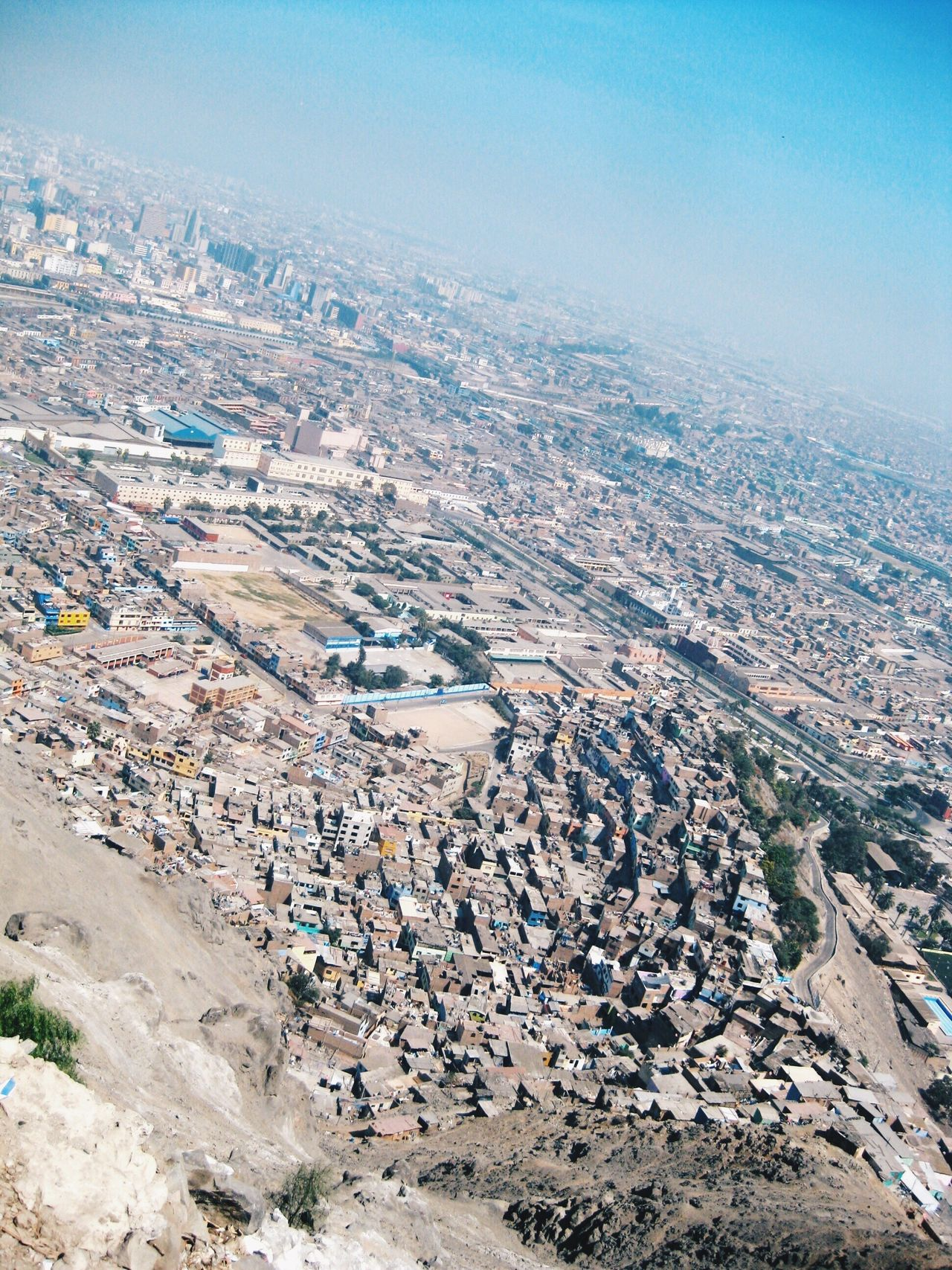 Flying High Aerial View High Angle View Outdoors Cityscape City Architecture Scenics New Perspectives On The Top Of The World Urban Skyline Blue Sky A Bird's Eye View View From Above in Lima , Peru