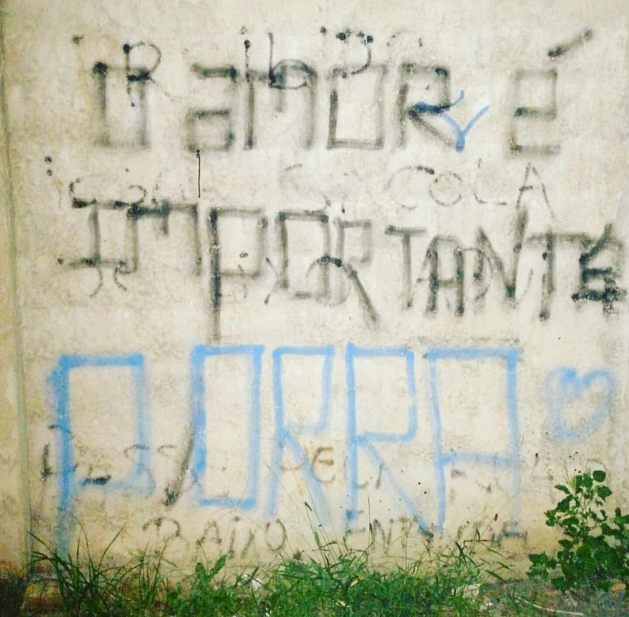 text, graffiti, day, outdoors, architecture, built structure, no people, building exterior, close-up