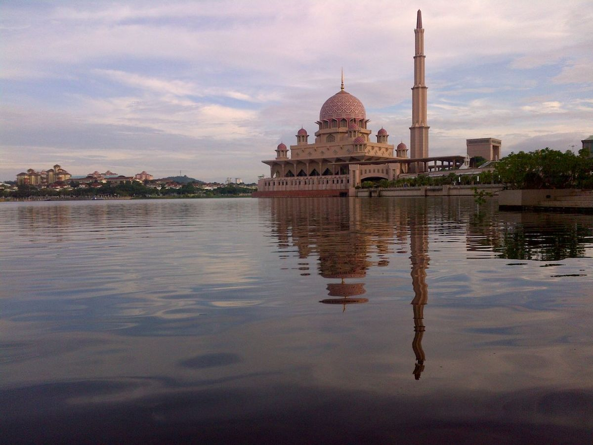 Architecture Dome Famous Place Masjid Putrajaya Mosque Reflection Religion Tourism Water Waterfront