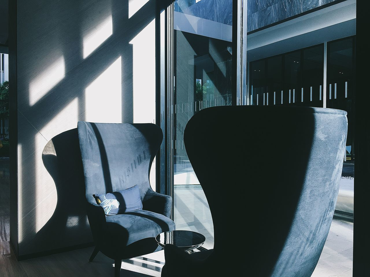 chair, indoors, window, no people, home interior, armchair, table, day, seat, close-up