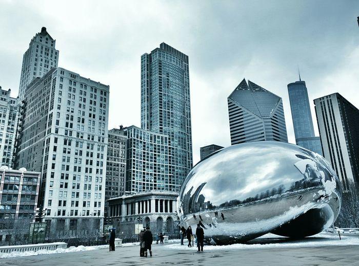 Chicago in March! It was freezing!! Travel Illinois Enjoying Life Vacation Placestovisit Beautiful Cityscape