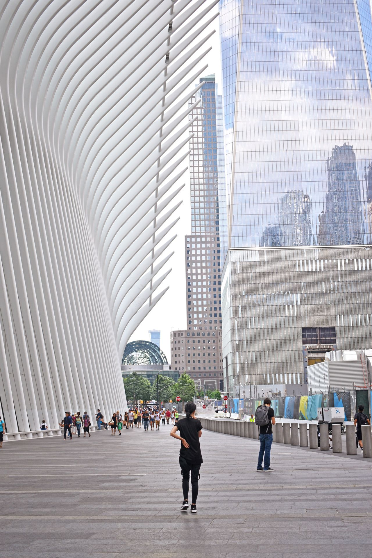 Architecture Skyscraper Modern City Built Structure Building Exterior Walking Day People Large Group Of People Real People Adults Only Urban Skyline Adult Futuristic Outdoors Cityscape Oculus Oculus NY WTC NYC NYC Street Photography NYC Photography Travel Destinations Architecture