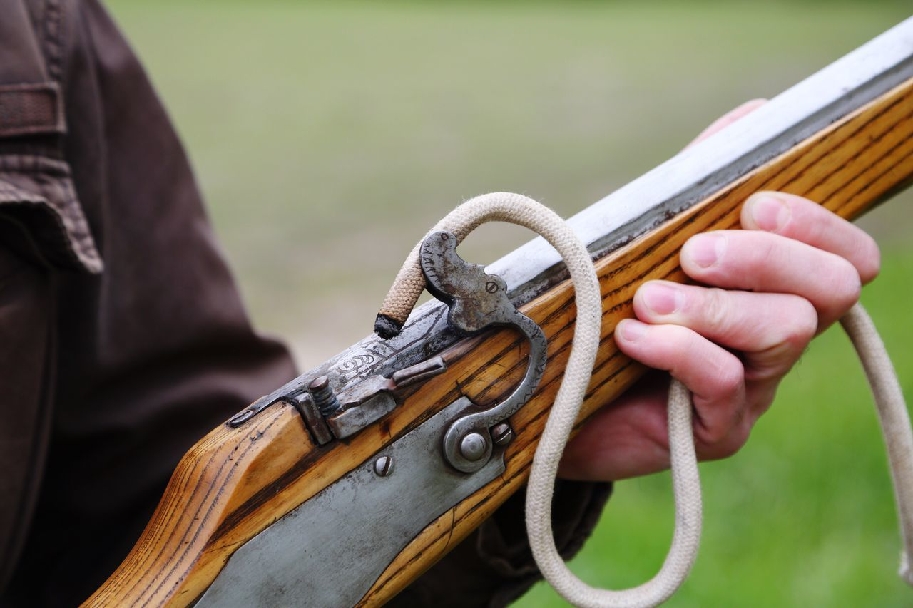 Firing an old rifle Human Hand Human Body Part Close-up Focus On Foreground Outdoors One Person Day Real People Holding Men People Firing  Rifle Vintage Old Gun