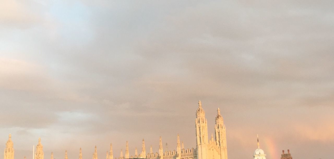 Cambridge University Cambridge King's College King's College, Cambridge King's Chapel Rainbow England Rooftop Rooftop View  Soft Light Pastel