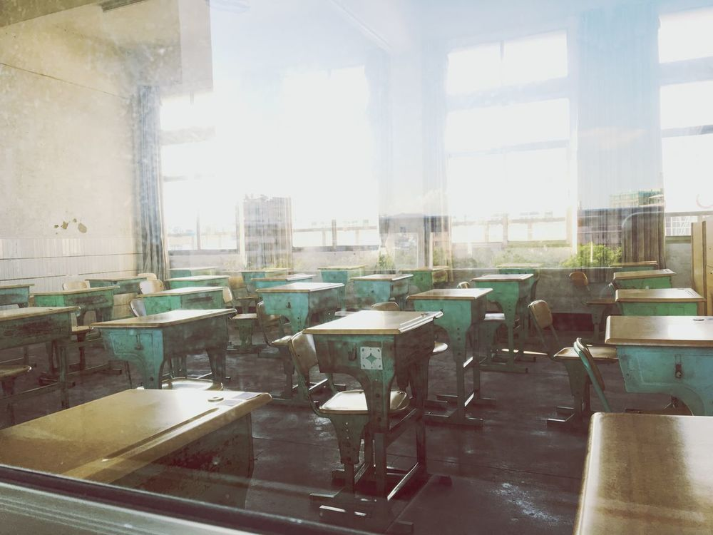 Place Of Heart Window Indoors  Day Table No People Chair Architecture Factory Finish high school life.🌴😝