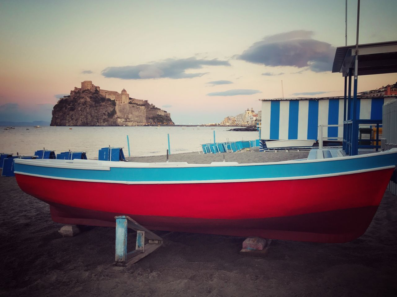 Live For The Story Transportation Nautical Vessel Sea Mode Of Transport Moored Sky Boat Beach No People Nature Sand Cloud - Sky Outdoors Water Day Boats Barca <3 Castelloaragonese Ischia Ischia Island Beachphotography Summer