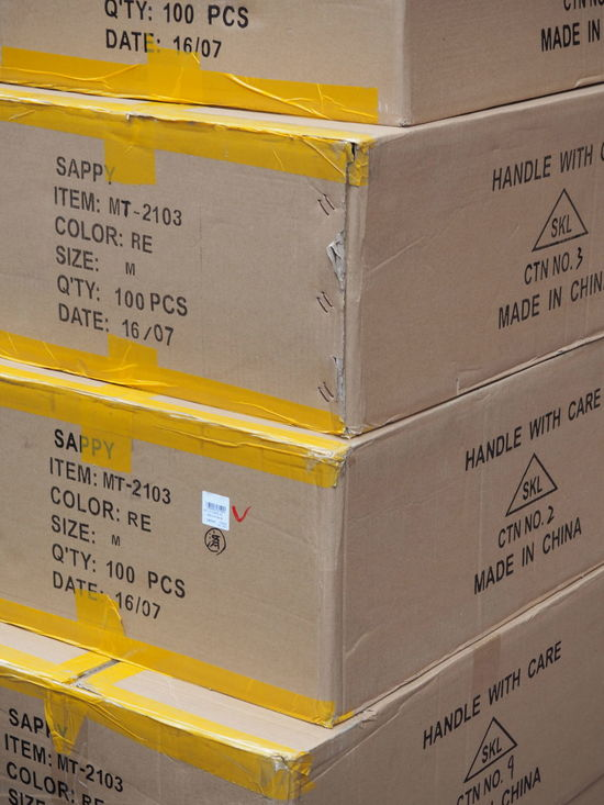 Cardboard Box Carton Box Color Size Quantity Delivered Goods Delivery Global Trade Goods Made In China Piled Shipping  Taped