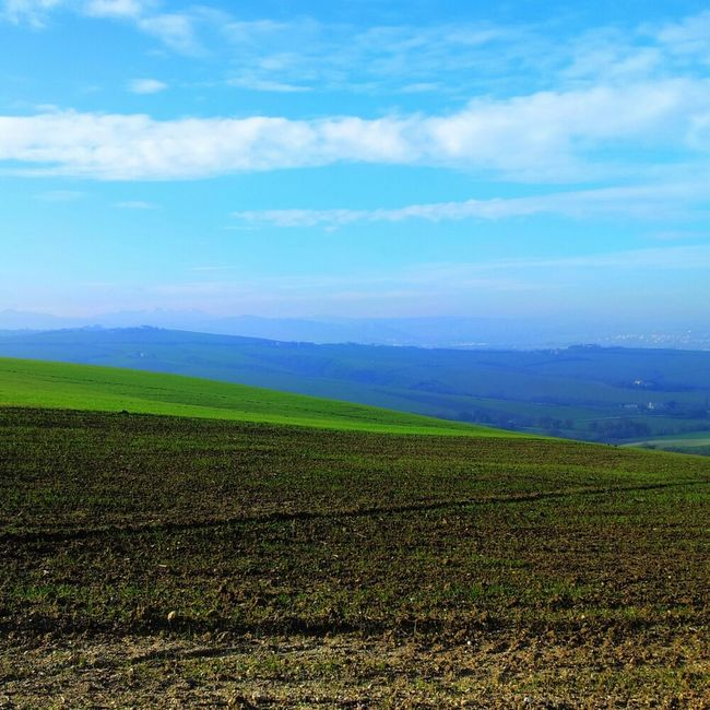 Nature Sky Landscape Green Blue Cielo Jesi Colline