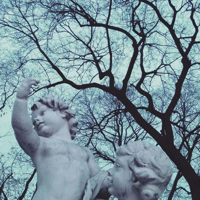 Burggarten Vienna Winter Walking Around