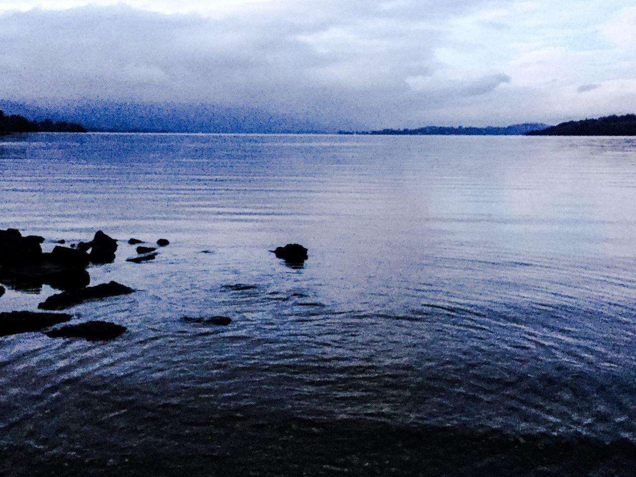 Today In Scotland Landscape Tranquil Scene Outdoors Water No People Ripples Mountain Range Beauty In Nature Reflection Idyllic Calm Blue Sky Rock - Object Rocks Tranquility LochLomond