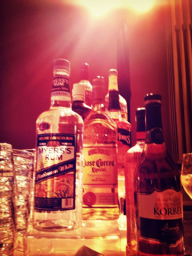 Liquor Bottles give this Party a nice edge!