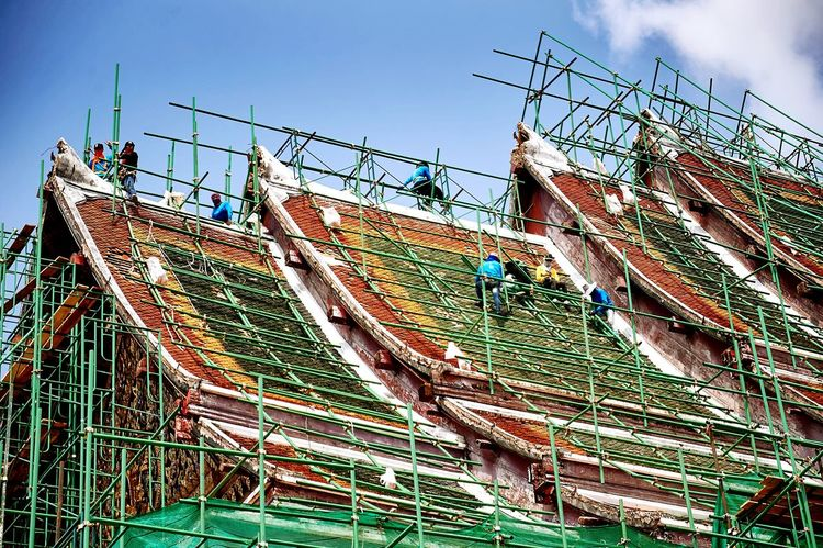 Update Roof Temple, Somwhere in Bangkok, Traveling Lifestyle Relaxing Construction Recovery