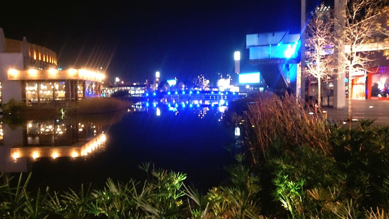 El Centro Comercial Puerto Venecia de Noche