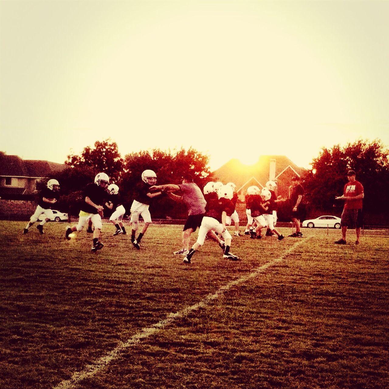 Football Sunset Children Kids