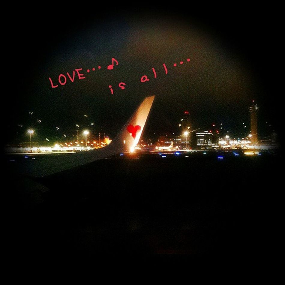 夜のハート これも綺麗… 夜顔 LOVEISALL スカイマーク はーと Heart Heart Night 夜顔 幸せし