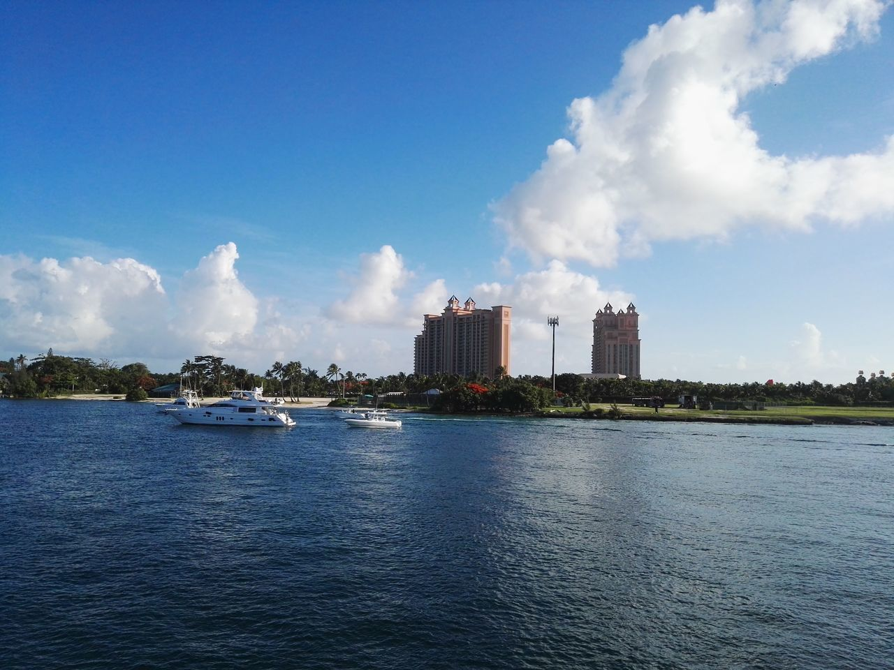 outdoors Architecture Beauty In Nature Building Exterior Built Structure Cloud - Sky Day Nautical Vessel No People Outdoors Paradise Island Bahamas Scenics Sea Sky Water Waterfront